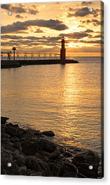 Across The Harbor Acrylic Print by Bill Pevlor