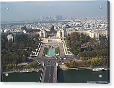 Acrylic Print featuring the photograph Across The Seine by Barbara McDevitt