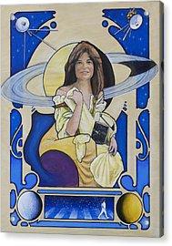 Across The Universe - Carolyn Porco Acrylic Print by Simon Kregar