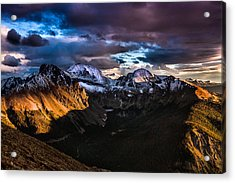 Across The Valley Acrylic Print by Steven Reed