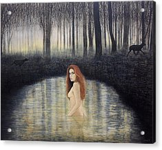 Actaeon And Artemis Acrylic Print