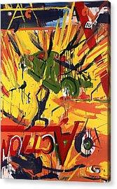 Action Abstraction No. 1 Acrylic Print by David Leblanc