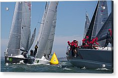 Action On The Bay Acrylic Print by Steven Lapkin