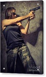Action Woman I Acrylic Print by Carlos Caetano