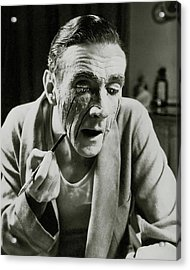 Actor Clifton Webb Applying Make-up Acrylic Print by Lusha Nelson