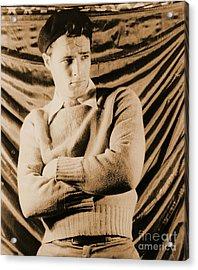 Actor Marlon Brando 1948 Acrylic Print by Padre Art