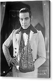 Actor Rudolph Valentino 1925 Acrylic Print by Padre Art