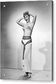 Actress Elinor Counts Acrylic Print by Underwood Archives
