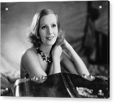 Actress Greta Garbo Acrylic Print by Underwood Archives