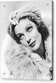 Actress Loretta Young Acrylic Print by Underwood Archives