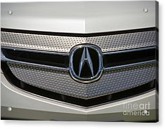 Acura Grill Emblem Close Up Acrylic Print by David Zanzinger