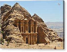 Ad Deir In Petra Acrylic Print