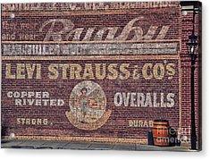 Ad On Brick Acrylic Print
