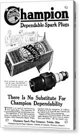 Ad Spark Plugs, 1919 Acrylic Print