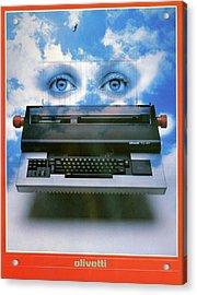 Ad Typewriter, C1975 Acrylic Print by Granger