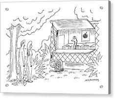 Adam And Eve Encounter An Apple Food-truck Acrylic Print