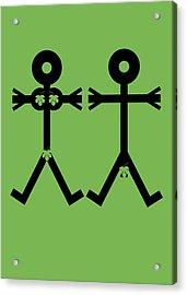 Adam And Eve Icon Acrylic Print