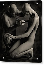 Adam And Eve Acrylic Print by Pavel Kiselev