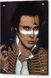 Adam Ant Acrylic Print by Jane Whiting Chrzanoska