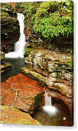 Acrylic Print featuring the photograph Adams Falls by James Kirkikis
