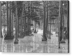 Adams Mill Pond 25 Bw Acrylic Print