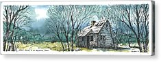 Acrylic Print featuring the mixed media Adams Ranch Headquarters King County Texas by Tim Oliver