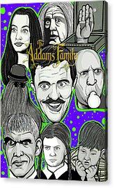 Addams Family Portrait Acrylic Print by Gary Niles