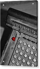 Adding Machine Three Acrylic Print by Todd Hartzo