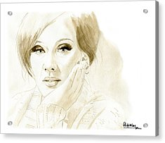 Adele Acrylic Print by David Iglesias