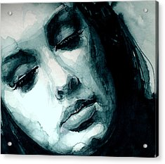 Adele In Watercolor Acrylic Print