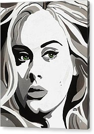 Adele Acrylic Print by Jesse Glenn