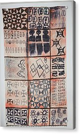 Adinkra Cloth With Bells Acrylic Print by Carrie Maurer