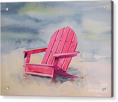 Adirondack At The Beach Acrylic Print