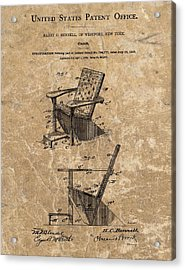 Adirondack Chair Patent Acrylic Print