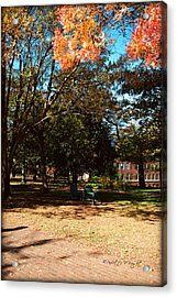 Adirondack Chairs 4 - Davidson College Acrylic Print by Paulette B Wright