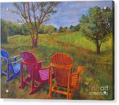 Adirondack Chairs In Leiper's Fork Acrylic Print by Arthur Witulski