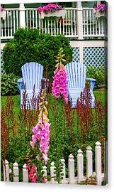Adirondack Garden Acrylic Print