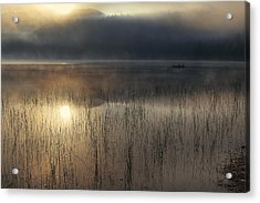 Adirondack Sunrise Acrylic Print by Magda  Bognar