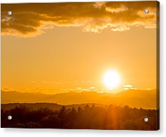 Adirondack Sunset Acrylic Print by Jeremy Farnsworth