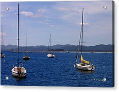 Adirondacks From Burlington Harbor Acrylic Print