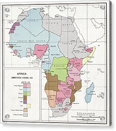 Administrative Divisions Of Africa Acrylic Print