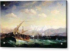 Admiral Andrea Dora Scatters The Spanish Fleet Near Vara Acrylic Print
