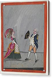 Admiral Hughes And Mrs. Oakeley Acrylic Print by British Library