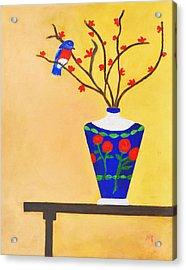Admiring Bird Acrylic Print