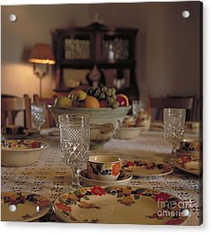 Adobe Dining Table Acrylic Print