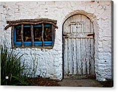 Adobe Door And Window Acrylic Print by Peter Tellone