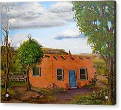 Adobe On The Prairie Acrylic Print by Sheri Keith