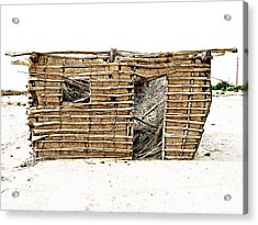 Acrylic Print featuring the photograph Adobe Shack 1 by Lin Haring