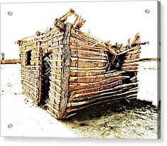 Acrylic Print featuring the photograph Adobe Shack 2 by Lin Haring