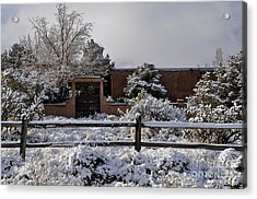 Acrylic Print featuring the photograph Adobe Snow by Gina Savage